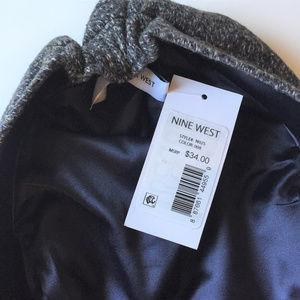 69c5696319c16 Nine West Accessories - NEW Nine West Wool Blend Tweed Flat Cap Black Gray